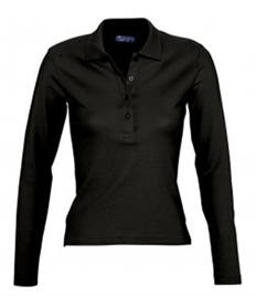 SOL'S Ladies Podium Long Sleeve Cotton Piqué Polo Shirt