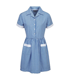 BLUEMAX AYR BUTTON FRONT CORDED GINGHAM DRESS