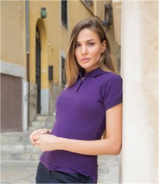 Henbury Ladies Stretch Cotton Piqué Polo Shirt