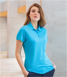 Henbury Ladies Stretch Microfine Piqué Polo Shirt