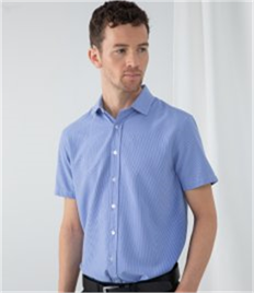 Henbury Gingham Short Sleeve Shirt