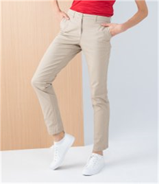 Henbury Ladies Stretch Chino Trousers