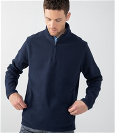 Henbury Zip Neck Micro Fleece