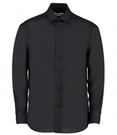 Kustom Kit Long Sleeve Tailored Fit Business Shirt