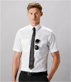 Kustom Kit Short Sleeve Tailored Pilot Shirt