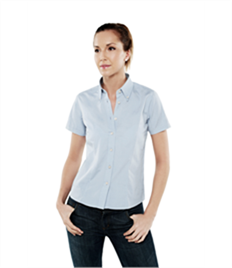 Uneek Ladies Pinpoint Oxford Half Sleeve Shirt