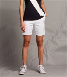 Front Row Ladies Stretch Chino Shorts