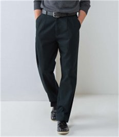 Henbury Front Pleat Chino Trousers