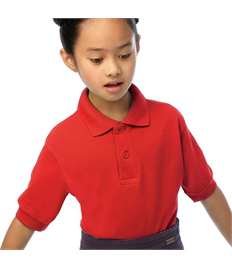 Junior Embroidered Red Polo Shirt