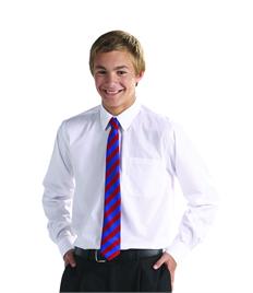 Boys Junior Long Sleeve White Shirt (Pack of 2)