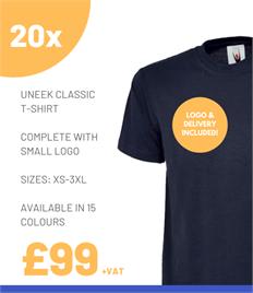 20 x Uneek Classic T-Shirts