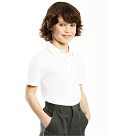 Childrens Embroidered White Polo Shirt