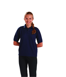 Junior Embroidered Navy Polo Shirt