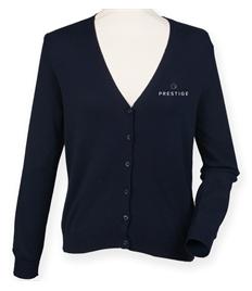 Prestige Ladies Embroidered V-neck Cardigan -Larger Sizes