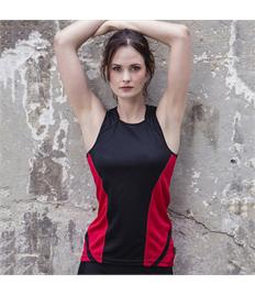 Rushden Runners Black/Red Ladies Vest