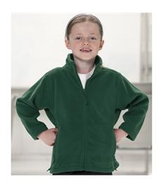 Embroidered Children's Bottle Green Fleece