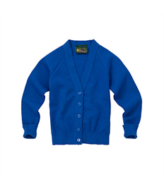 Children's Royal Blue Embroidered Cardigan