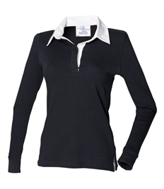 Official RRR Embroidered Women's Long Sleeve Rugby Shirt