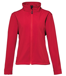 Ladies Soft Shell Jacket Embroidered Club Logo Front, Printed 'Kettering Town Harriers' On The Back