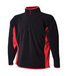 Rushden Runners Mens Black/Red Fleece