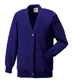 Outlaws Purple Embroidered Cardigan