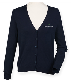Prestige Embroidered Ladies V-Neck Cardigan