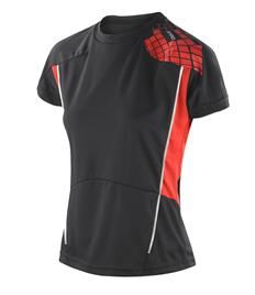 Rushden Runners Black/Red Womens Training Top