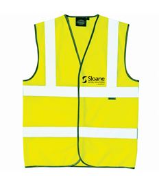 Embroidered and Printed Hi Viz Waistcoat
