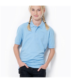 Embroidered Children's Sky Blue Polo Shirt