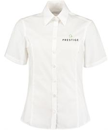 Prestige Embroidered Ladies Short Sleeve Shirt .