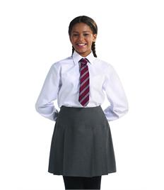 Girls Long Sleeve White Shirt (Pack of 2)
