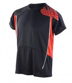 Rushden Runners Black/Red Mens Training T-Shirt