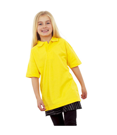 Junior Embroidered Yellow Polo Shirt