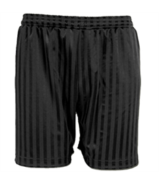 Children's Printed Black Shadow Stripe PE Shorts