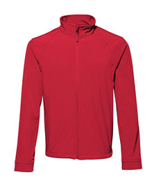Mens Soft Shell Jacket Embroidered Club Logo Front, Printed 'Kettering Town Harriers' On The Back