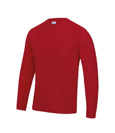 Long Sleeve Training Tee With Printed Club Logo