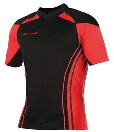 Outlaws Stadium Match Rugby Shirt Black/Red