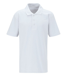 Alfred Street Embroidered Adult White Polo Shirt