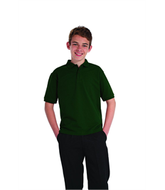 Embroidered Children's Bottle Green Polo Shirt