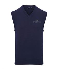 Prestige Embroidered Mens V-neck Sleeveless Jumper
