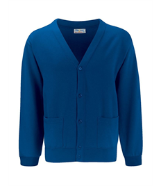 Alfred Street Embroidered Adult Royal Blue Cardigan